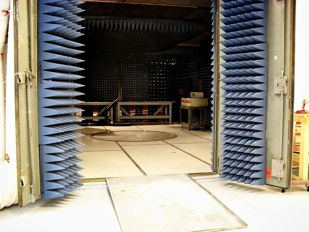 Doors to Large Semi-Anechoic Chamber
