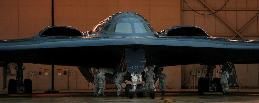 military stealth bomber jet